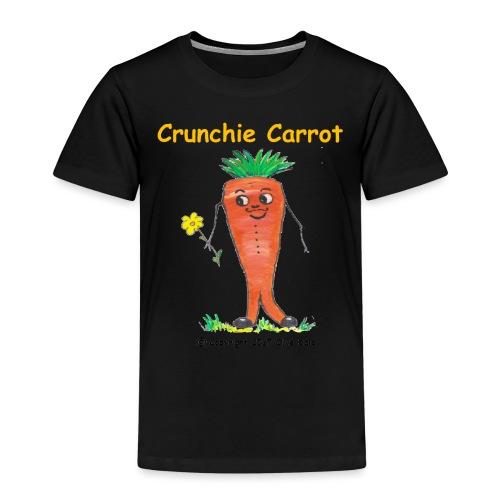 Crunchie carrot with name - Kids' Premium T-Shirt