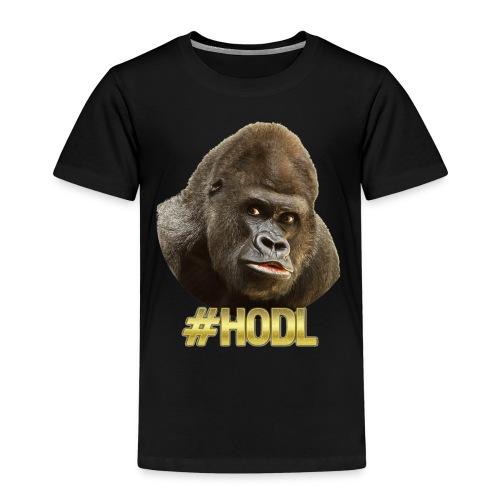 Gorilla #HODL Gold - Kinder Premium T-Shirt
