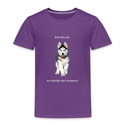 Husky Welpen mit bezaubernden Augen - Kinder Premium T-Shirt