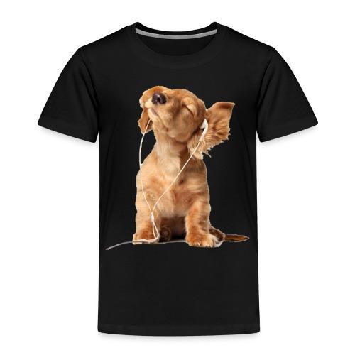 Cool Dog Listening to Music - Kids' Premium T-Shirt