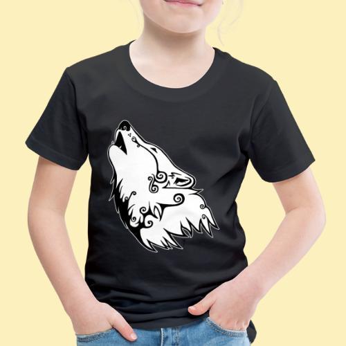 Le Loup de Neved (version contour blanc) - T-shirt Premium Enfant