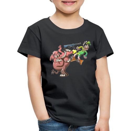 Hunter's Teeth instead of Elephant's Tusks - Kids' Premium T-Shirt