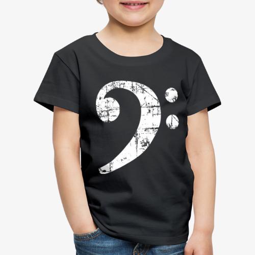 Bassschlüssel Vintage Bassisten Design (Weiß) - Kinder Premium T-Shirt