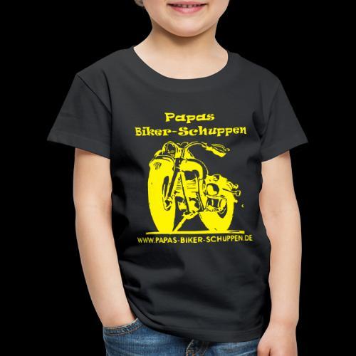 Papas Biker-Schuppen Logo Gelb - Kinder Premium T-Shirt