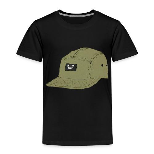 5 panel Get in line hoodie - Kids' Premium T-Shirt