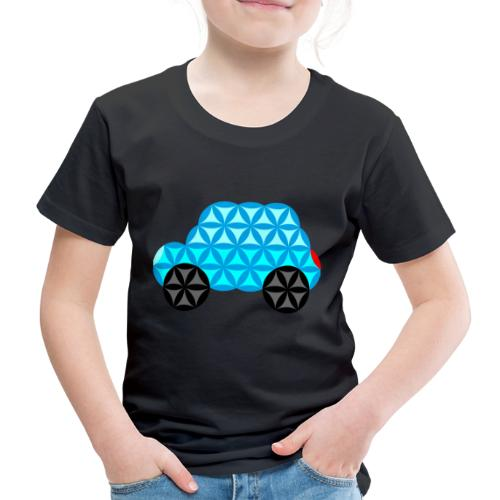 The Car Of Life - 01, Sacred Shapes, L/Blue. - Kids' Premium T-Shirt