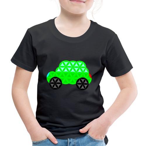 The Car Of Life - 01, Sacred Shapes, L/Green. - Kids' Premium T-Shirt