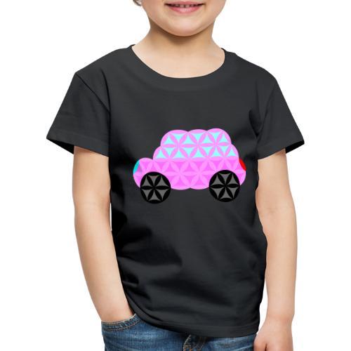 The Car Of Life - 01, Sacred Shapes, Pink. - Kids' Premium T-Shirt