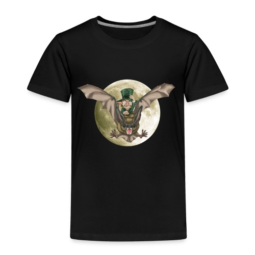 DUENDE MURCIÉLAGO luna sin brillo - Camiseta premium niño