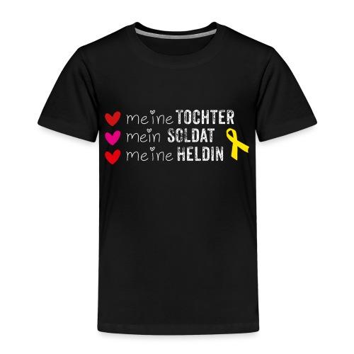 Meine Tochter Soldat Heldin weiss - Kinder Premium T-Shirt