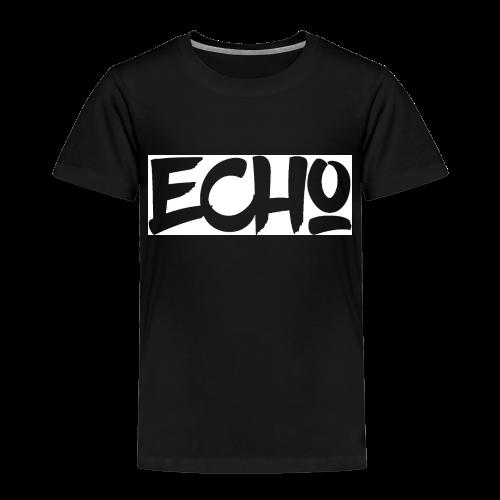 Echo_White_Design - Kinder Premium T-Shirt