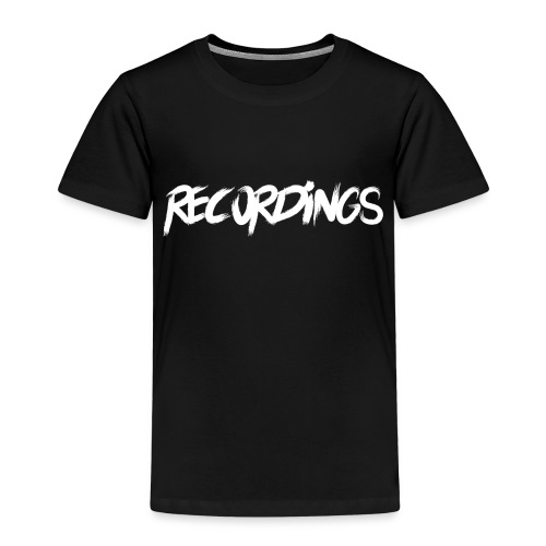 recordings white - Kinderen Premium T-shirt