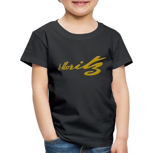 St. Moritz Schweiz Souvenir - Kinder Premium T-Shirt