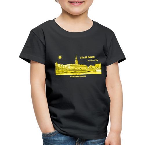 Summer Kopenhagen Dänemark City Rathaus Summer - Kinder Premium T-Shirt