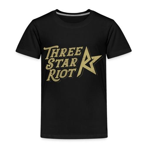 Three Star Riot logo väri - Lasten premium t-paita