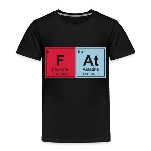 Geeky Fat Periodic Elements - Kids' Premium T-Shirt