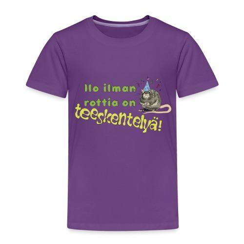 Ilo ilman rottia - kuvallinen - Lasten premium t-paita