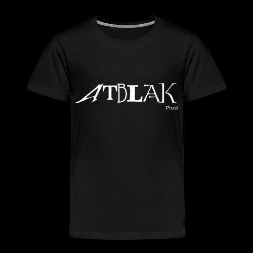 Logo blanc contour noir - T-shirt Premium Enfant