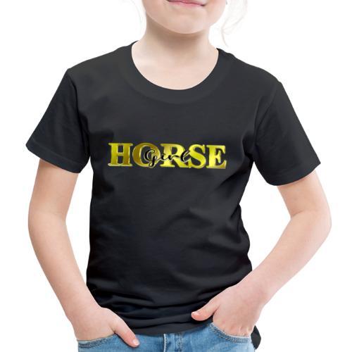 Horsegirl Reiten Pferde Geschenk - Kinder Premium T-Shirt