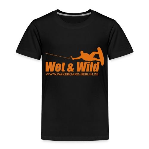 Wet Wild Logo orange 2 - Kinder Premium T-Shirt