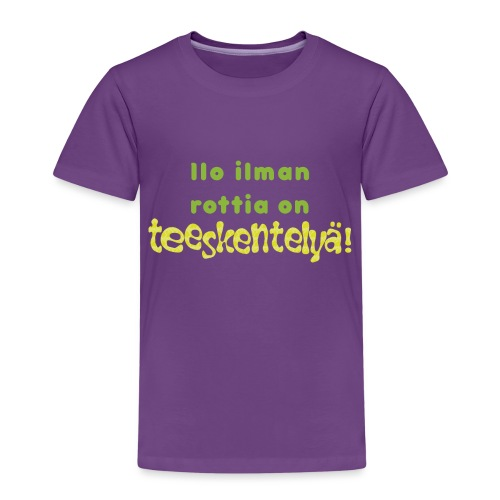 Ilo ilman rottia - vihreä - Lasten premium t-paita