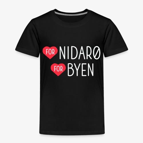 Hjerte for Nidarø - Hjerte for Byen - Premium T-skjorte for barn