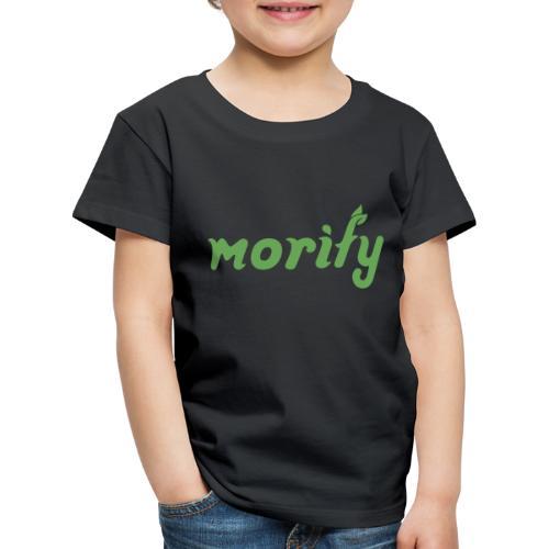 Morify-Schriftzug - Kinder Premium T-Shirt