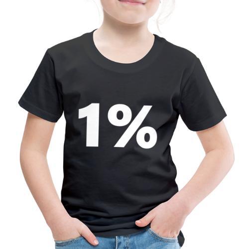 1 % wiess - Kinder Premium T-Shirt
