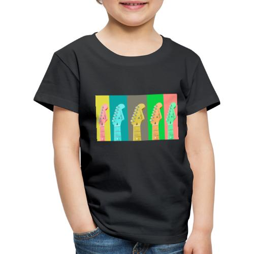 Colorful Guitar Gathering by #OneCreativeArts - Kinder Premium T-Shirt