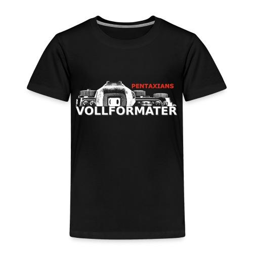 Pentaxians VOLLFORMATER white Logo - Kinder Premium T-Shirt