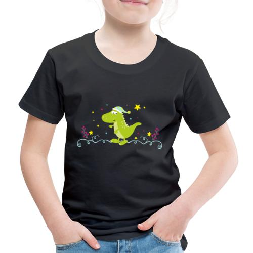 Dinosaurier im Winter - Kinder Premium T-Shirt