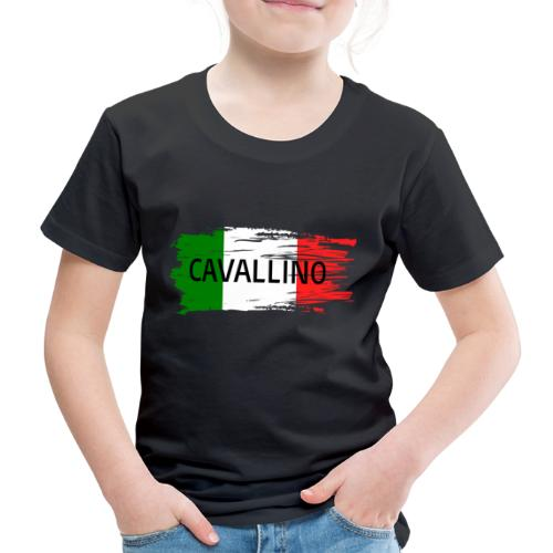 Cavallino auf Flagge - Kinder Premium T-Shirt