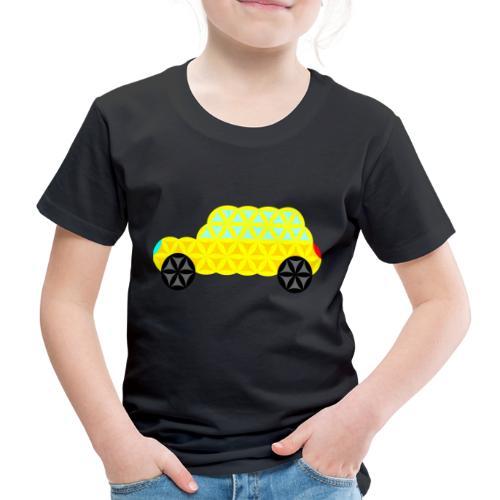 The Car Of Life - 02, Sacred Shapes, Yellow. - Kids' Premium T-Shirt