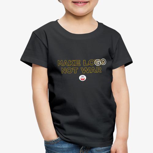 Make LOGO not WAR - Maglietta Premium per bambini