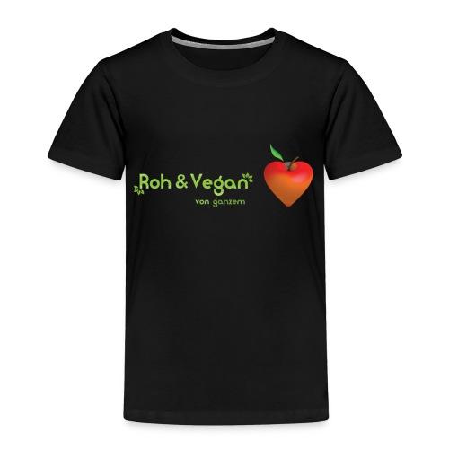 Roh & Vegan rotes Apfelherz (Rohkost) - Kinder Premium T-Shirt