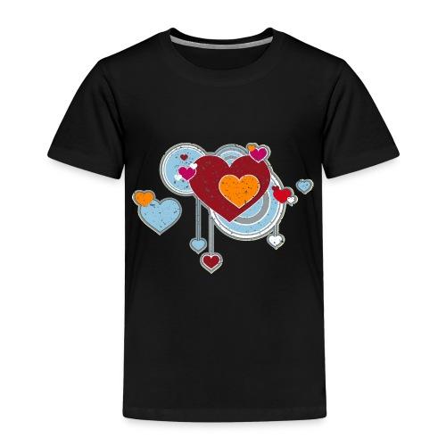 Liebe love Herzen hearts retro grunge Valentinstag - Kids' Premium T-Shirt