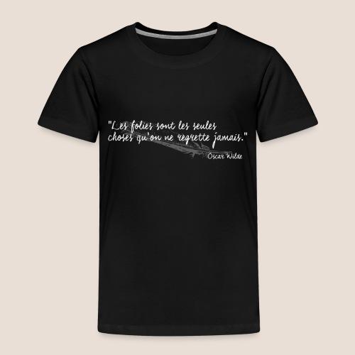 Oscar Wilde (blanc) - T-shirt Premium Enfant