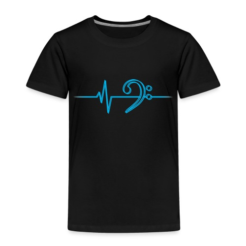 LowHeartBeatDouble cyan - Kinder Premium T-Shirt