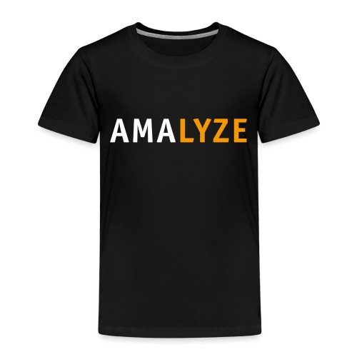 AMALYZE LOGO - Weiß / Orange - Kinder Premium T-Shirt