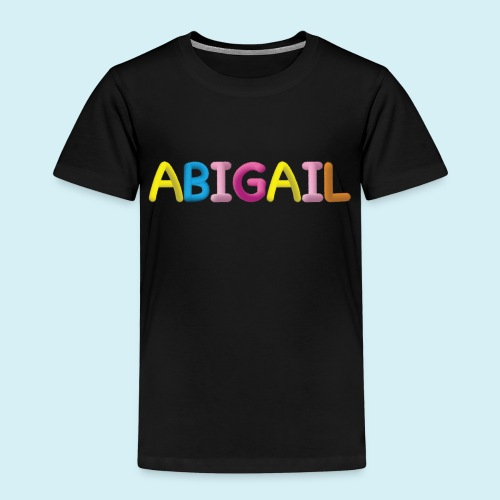 Fluffy Abigail Letter Name - Kids' Premium T-Shirt