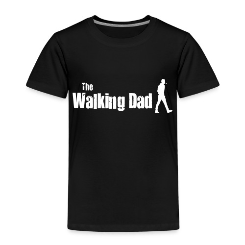 the walking dad white text on black - Kids' Premium T-Shirt