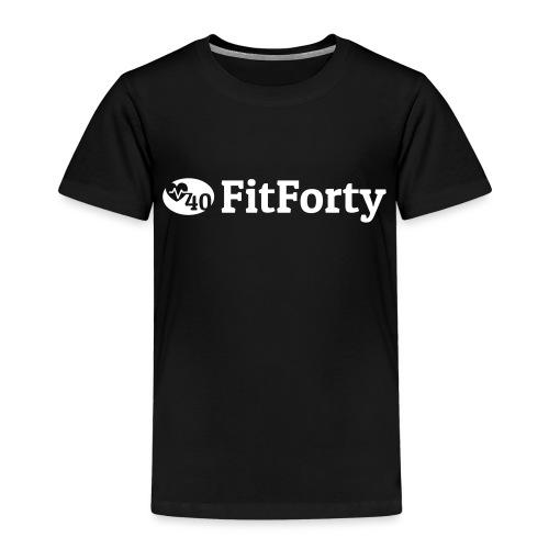 White Line Logo - Kids' Premium T-Shirt