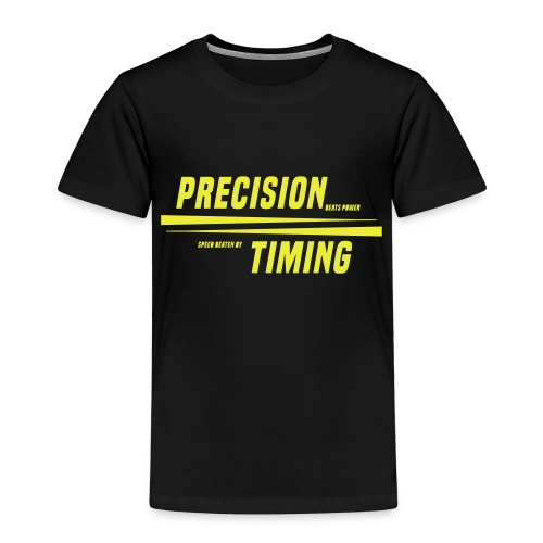 PRECISION & TIMING - Børne premium T-shirt