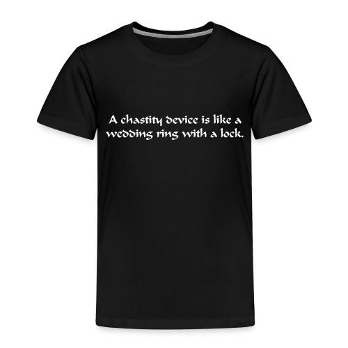 Chasity Ring (White) - Kids' Premium T-Shirt
