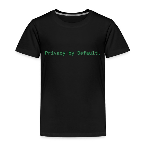 pEp-slogan-green - Kinder Premium T-Shirt