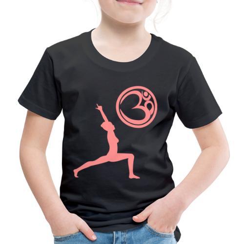 Der Held Yoga Asana Warrior mit OM Symbol Cool - Kinder Premium T-Shirt