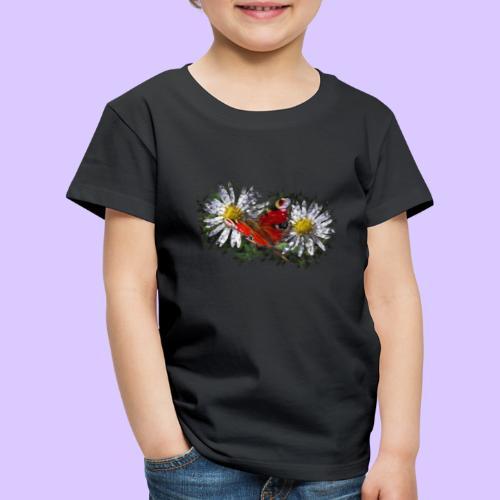 zwei Gänseblümchen mit einem Schmetterling - Kinder Premium T-Shirt