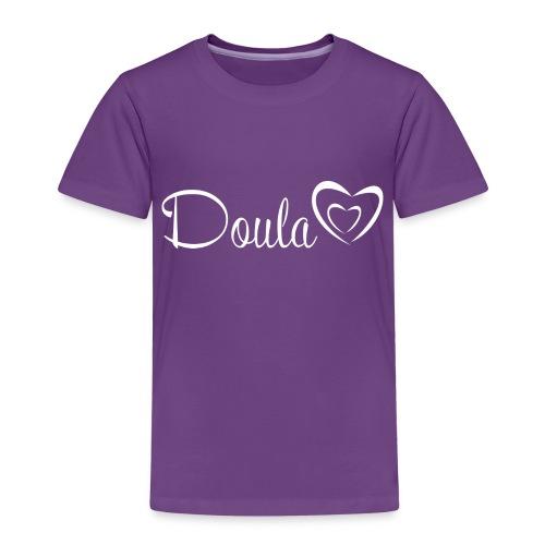 doula sydämet valkoinen - Lasten premium t-paita