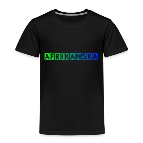 Afrikanksa text 2 0 - Premium-T-shirt barn