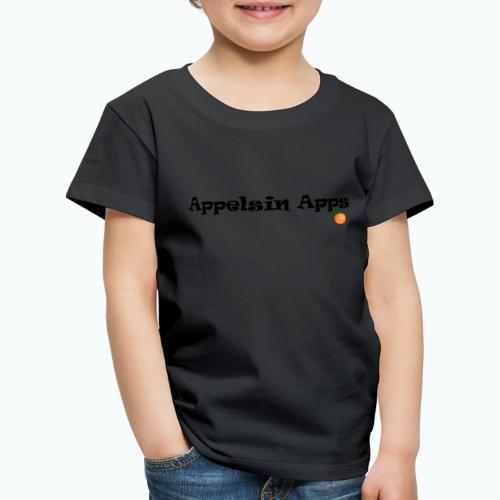 Appelsin Logo - Premium-T-shirt barn